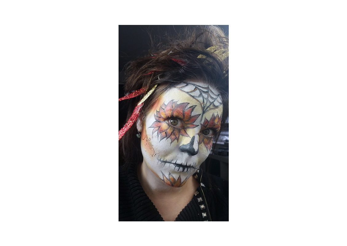 Sugar-Skull Make-up von Ilka Küting